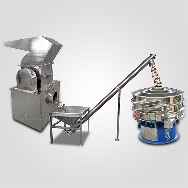Starch grinding, conveying, screening